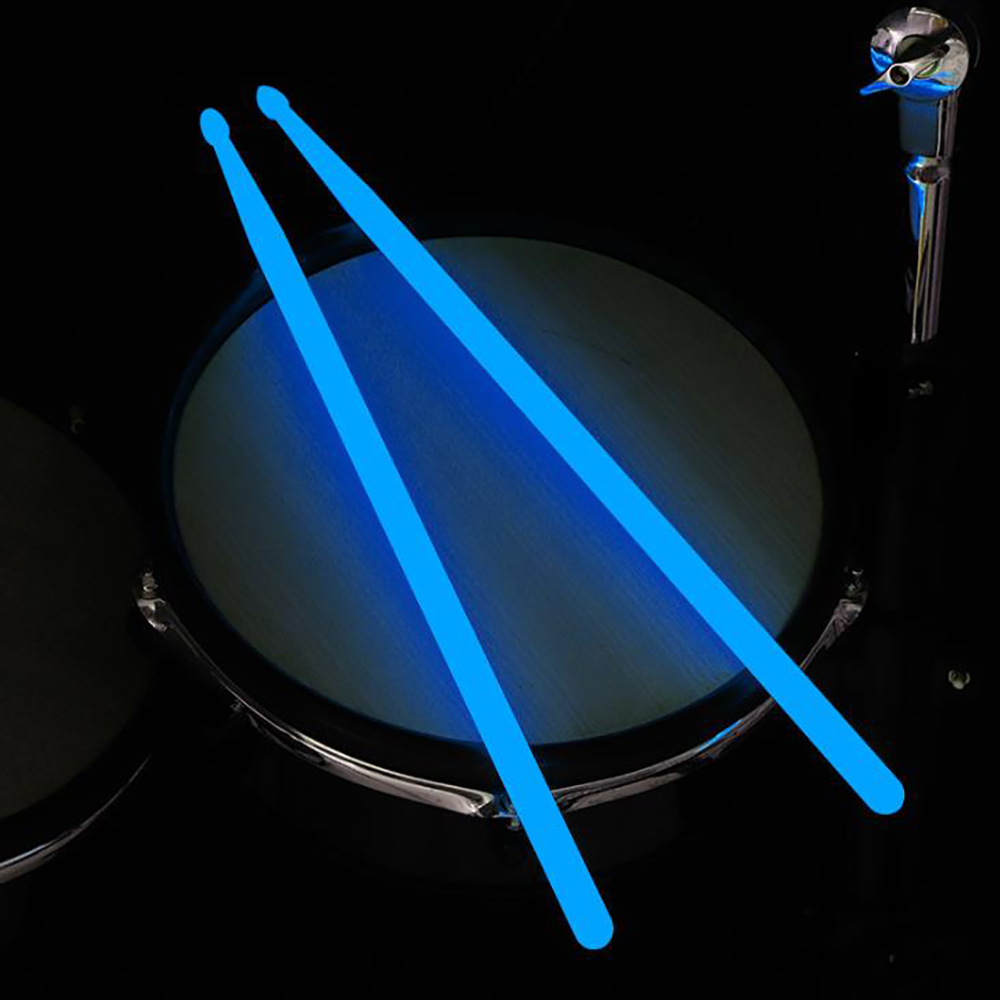 Luminous Drumsticks Bright Drum Stick Bright LED Light Up Drumsticks Luminous In The Dark Stage Jazz Drumsticks Reuse Drum Kit