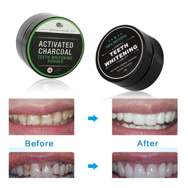30g All Natural Organic Activated Charcoal Teeth Whitening Total
