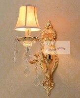 1 pçs ouro quarto lâmpadas de parede do hotel estilo itália arandela moderna iluminação parede cristal luminária cabeceira luzes leitura|modern wall light|bedside reading light|wall sconces modern -