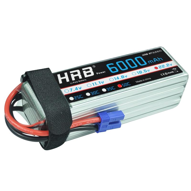 HRB 22 2V 6S 6000mAh 50C RC Lipo Bateria Max 100C 22 2V RC LiPo Battery