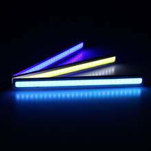 KEIN 2PCS Pathway Lighting Auto car 17CM 28 LED COB DRL daytime running car styling Lamp Bulb car modification 12v crystal blue