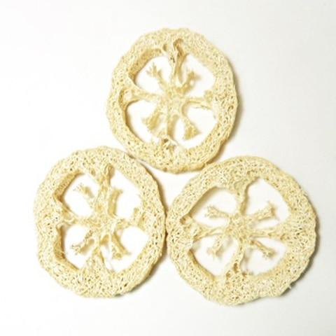 500 pcs lote 2cm de espessura natural bucha luffa esponja diy personalizar cleanner ferramentas de