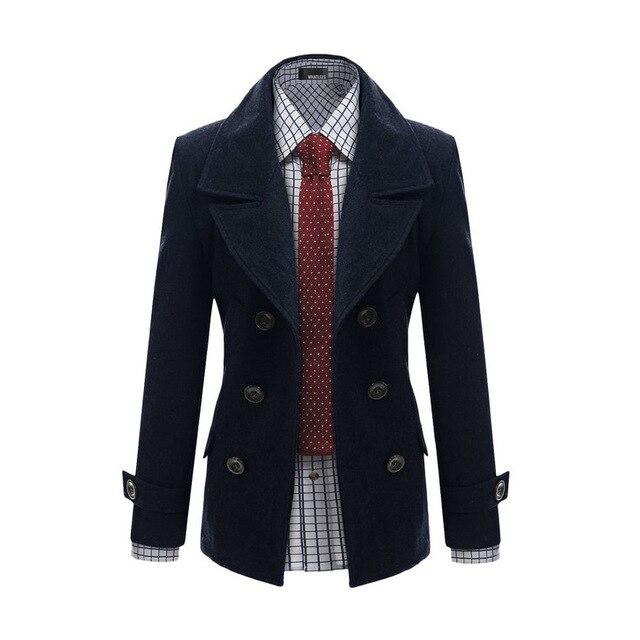 2015 nueva moda Masculina formal de prendas de vestir exteriores de lana medio-largo gabardina de lana de los hombres de temperamento chaqueta delgada ajuste perfecto envío gratis
