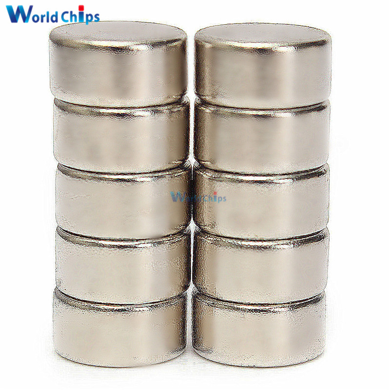 10Pcs Super Strong Cylinder Round Disc Magnets Rare Earth Neodymium N52 10x5mm For Power Tool 10*5 Mm