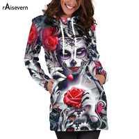Raisevern Fashion bluza z kapturem sukienka damska sukienka z kieszeniami kobieta Mini z długim rękawem sukienka z kapturem tunika Vestidos De Fiesta Dropship