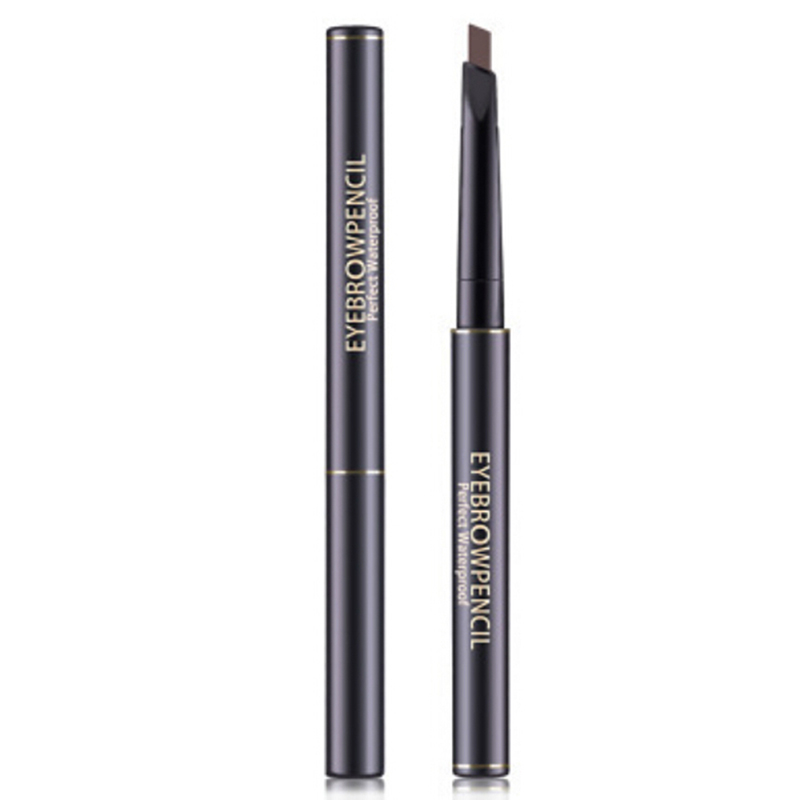 Double Ended <font><b>Eyebrow</b></font> Pencil With Brush 5 Color Waterproof Long Lasting Rotatable Triangle Eye Brow <font><b>Tatoo</b></font> <font><b>Pen</b></font> <font><b>Eyebrow</b></font> Pencil image