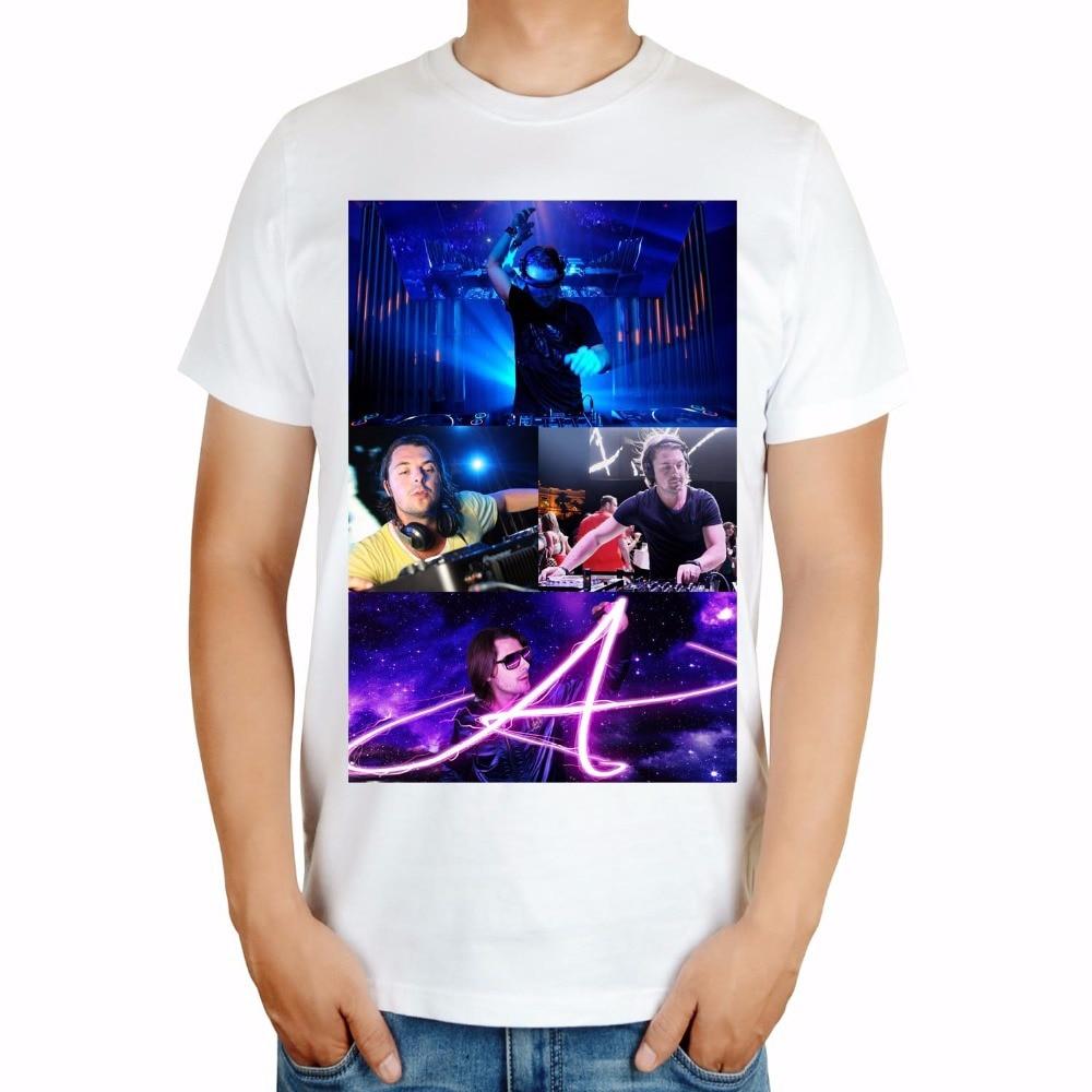 Белый черный Летний Стиль Мода axwell ingrosso бренд певица мужчины DJ ММА Объёмный рисунок(3D-принт) хлопковая футболка музыка фитнес