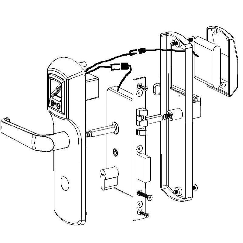 Hfsecurity Safe Electric Fingerprint Door Locks Electronic