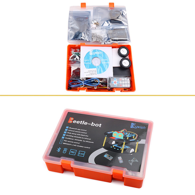 Robot Smart Cars Kit Remote Control Bluetooth Module