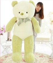 huge lovely new plushed Teddy bear toy stuffed light green teddy bear with bow birthday gift about 160cm