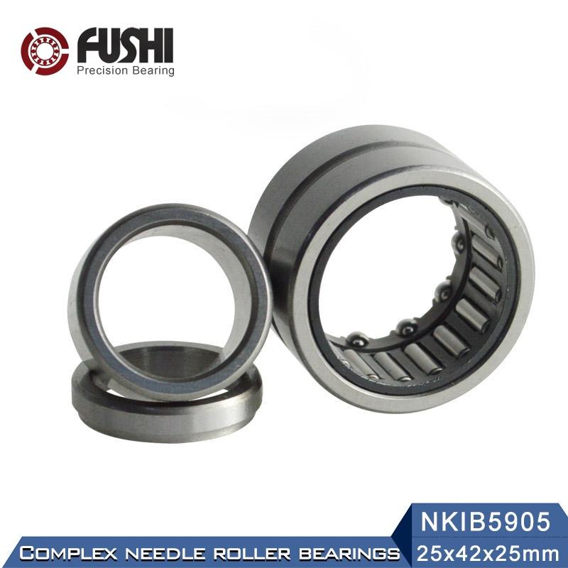 NKIB5905 Complex Bearings 25*42*35mm ( 1 PC) Needle Roller Angular Contact Ball Bearing NATB5905 NATB 5974905 1pcs 71822 71822cd p4 7822 110x140x16 mochu thin walled miniature angular contact bearings speed spindle bearings cnc abec 7