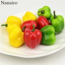 10 шт 3,4 см пена Чили искусственная пена пластик овощи поддельные искусственные из ПЭ фрукты модель вечерние украшения для кухни Свадебные