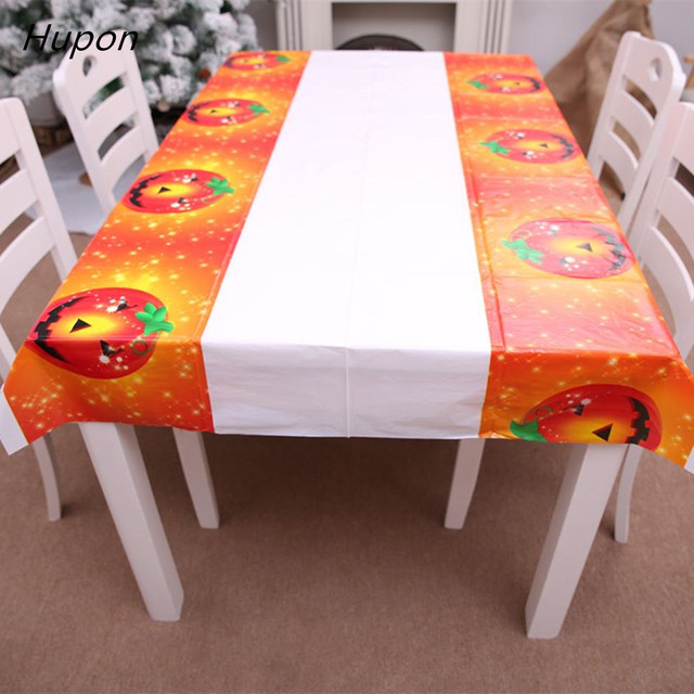 Halloween Decorative Table Cloth 180*108cm Linen Tablecloth Dining Table Cover for Kitchen Home Decor Table Runner Party Supplie