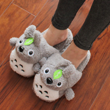 Studio Ghibli My Neighbor Totoro – Unisex Soft Warm Plush House Totoro Slippers with 2 Styles
