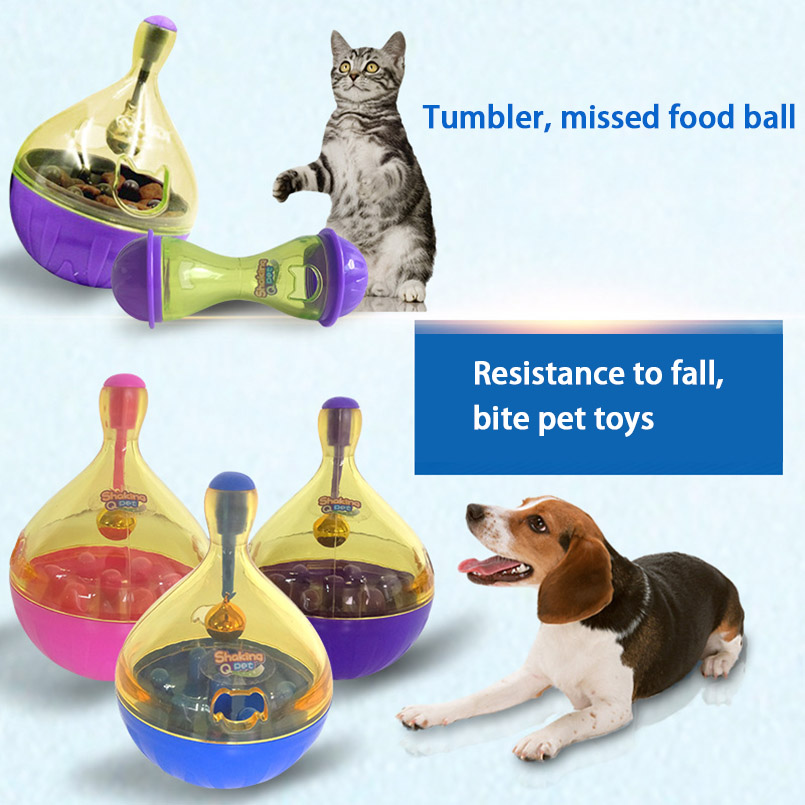Feeding Dog Toy Tumbler Sound Shaking Pet Toy Leaking Food Tumbler Toys For All Dogs Interesting Goods For Cat Interactive Cats
