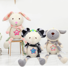 Baby Rattles Infant Cute Comfort Doll Baby Plush Toy Rattles 0-12 Months for Baby Soft Bed Bell Animal Rattles amigurumi crochet tool doll toy rattles
