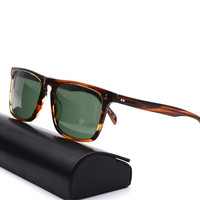 Vazrobe Glass Mens Sunglasses Women Famous Brands Acetate Sun Glasses for Man Driving Quality 141 165mm Wide Sunglass Male
