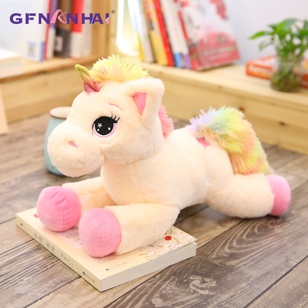 Rainbow Unicorn Doll Pillow Soft Plush Stuff Toy Lumbar Pillow For Baby Kid Birthday Christmas Gift Low Price Decorative Pillows Pillows