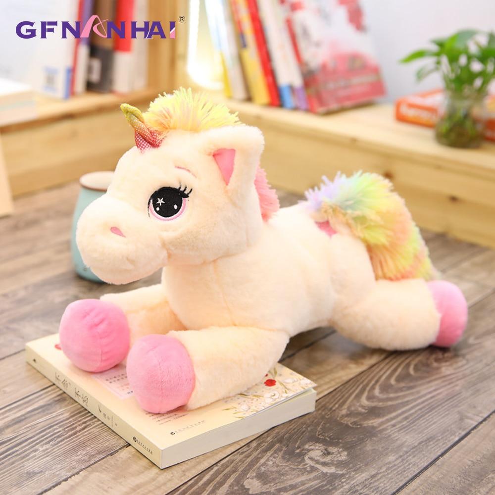 1pc 40/60/80cm Stuffed Animal Baby Dolls Kawaii Cartoon Rainbow Unicorn Plush Toys Kids Present Toys Children Baby Birthday Gift
