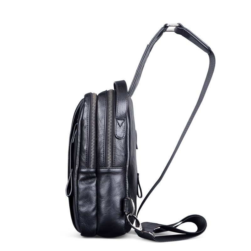Man Chest Bag Mens Shoulder Bag Mini sling bag PU sling pack casual big Small Male Bag famous Brand FEGER fashion