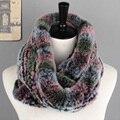 Moda de piel de conejo rex de las mujeres bufanda 16 colores suaves y cálidos estilo largo de las señoras de las muchachas de invierno bufandas mejores regalos para el amante amigos