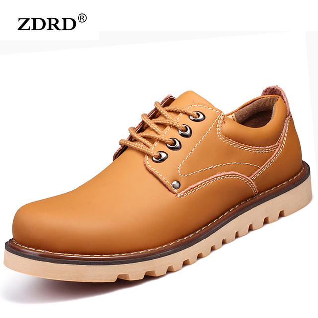 2016 New Brand Men Shoes Outdoor Men Ankle Boots Genuine Leather Boots Mens Boots Martin Male Climbing Shoes Work Safety Shoes