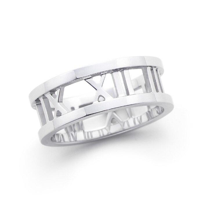 925 anéis de prata para as mulheres luckly oco Roma número de anel para os homens anéis de casamento do partido do vintage de prata esterlina jóias finas R026