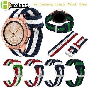 Сменный ремешок для часов Samsung Galaxy, ремешок для часов Samsung Galaxy, 42 мм, 2018, новый модный тканевый нейлоновый браслет для Samsung Gear S2