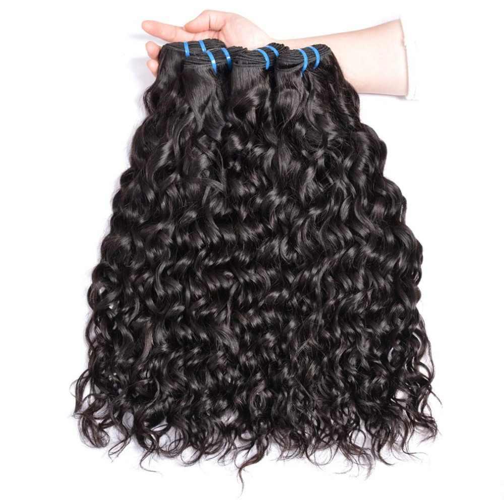 Yavida индийские водяные пучки волнистых волос индийские пучки волос человеческие волосы переплетения пучки 1B/натуральный цвет не Реми наращивание волос