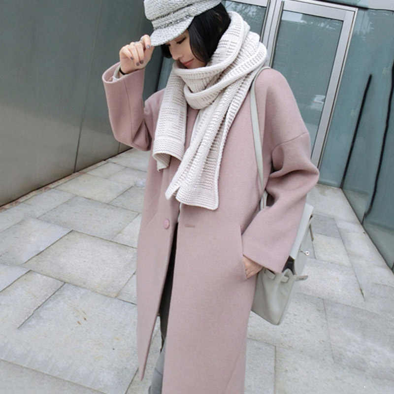 Newly Women Casual Winter Jacket Overcoat Slim Fit Long Cardigan Coat Tops Outwear  VK-ING