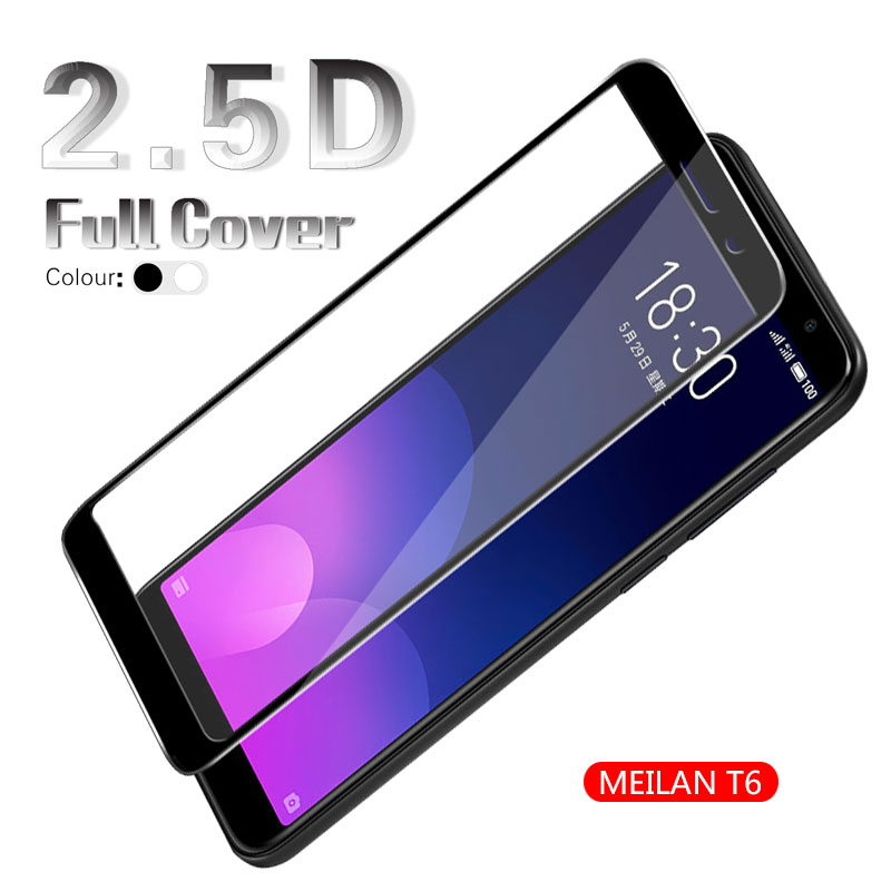 2.5D Arc Full Cover Tempered Glass Film For <font><b>Meizu</b></font> <font><b>M6T</b></font> Meilan 6T Blue Charm 6T <font><b>M811H</b></font> M811Q Screen Protector White & Black & Gold image