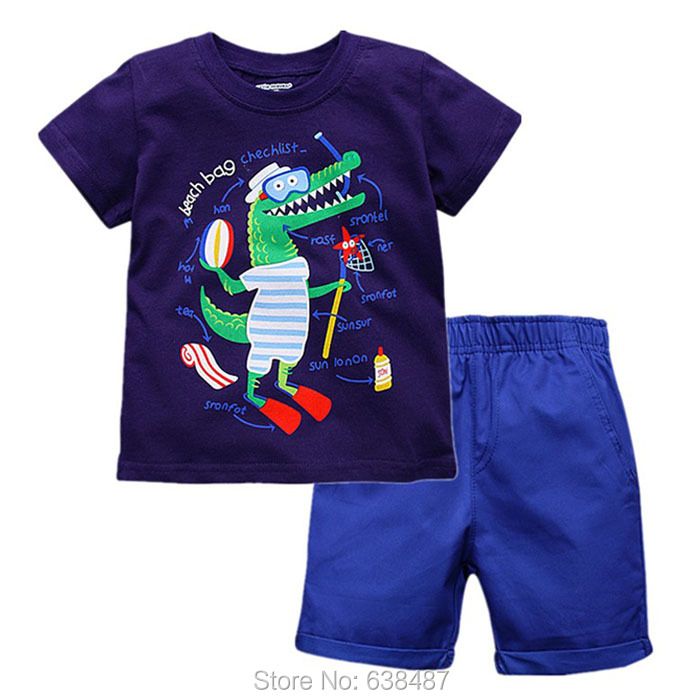 Baby Boy Clothes Set New 2019 Brand Quality 100% Cotton Summer Children Clothing Short Sleeve Kids Clothes Set Baby Boys Outwear