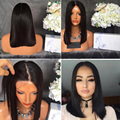 Brazilian Virgin Hair Bot Cut Wig Straight Short Lace Front Human Hair Wigs 12in-18in Glueless Full Lace Wigs With Baby Hair