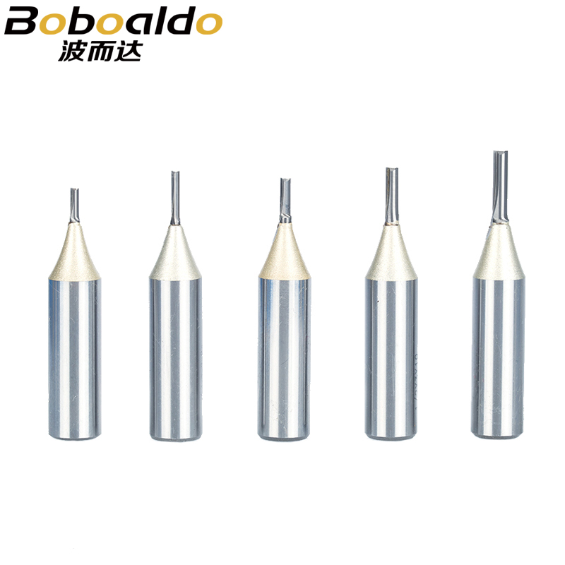 1pc 1/4 1/2 Shank TCT Straight Router Bits Woodworking Carving 2 Flute Wood Engraving Milling Cutter Carbide CNC Bits