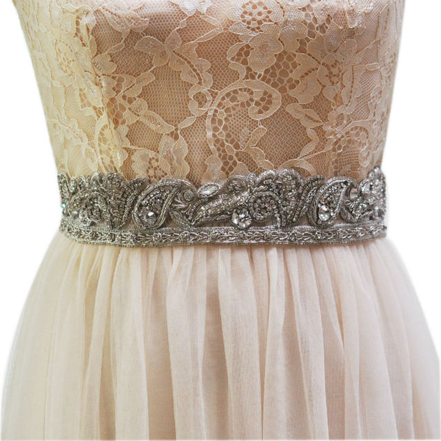 TOPQUEEN AS07-S India Silk  Bride Evening Party Gown Dresses Accessories Wedding Sashes Belt/Waistband Bridal Belts Sashes