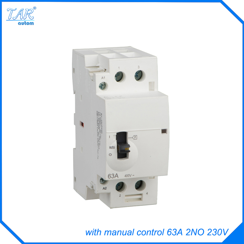 Smart home water heater CT household AC manual control contactors 63A 2P 2NO smart home продукты