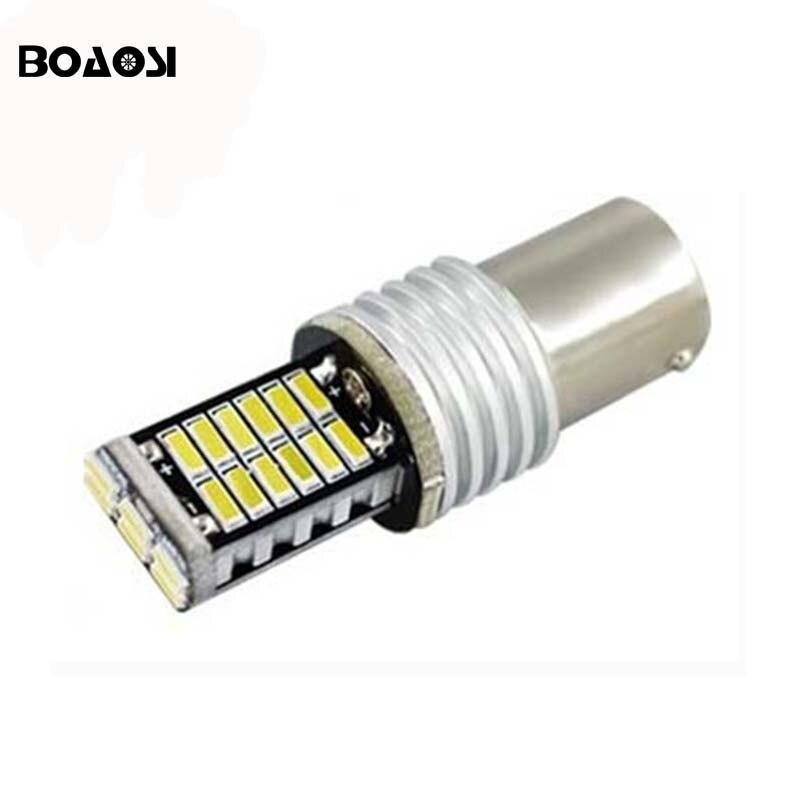 1pcs Canbus No Error Led 1156 BA15S P21W 4014 Chip 30 SMD Lamp Auto Car LED Front Turn Signal Light Bulbs Backup Reverse Lights 10pcs car 1156 ba15s t25 t20 canbus led 5050 26smd no error turn brake signal led light bulbs fd 4697