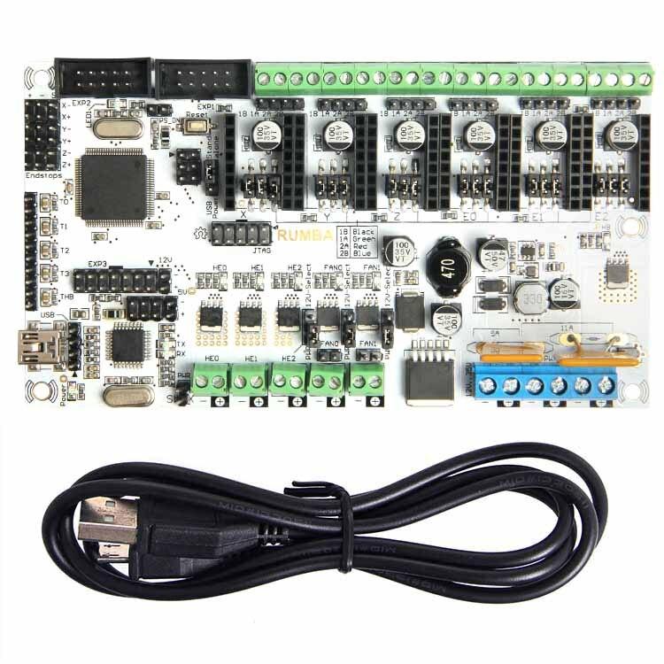 Geeetech Date reprap 3D panneau de commande de l'imprimante Rumba + USB câble meilleur choix pour les fans de bricolage