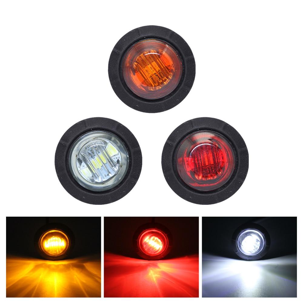 ANBLUB 1pcs 3 LED Side Marker Light Car Signal Lamp DC 12V Tail Brake Light Warning Lamp Turn Signal For Trailer Lorry Truck Bus