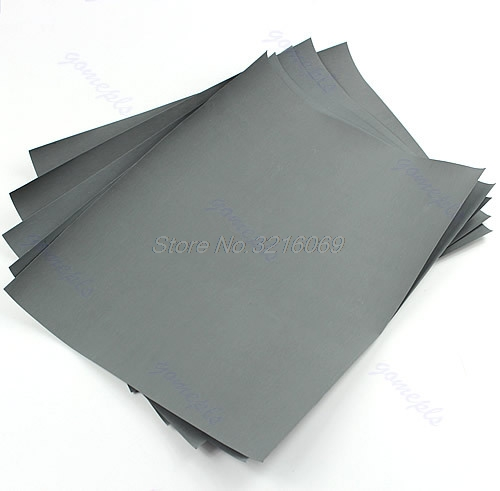 5 Sheets Sandpaper 3000 Grit Waterproof Paper 9