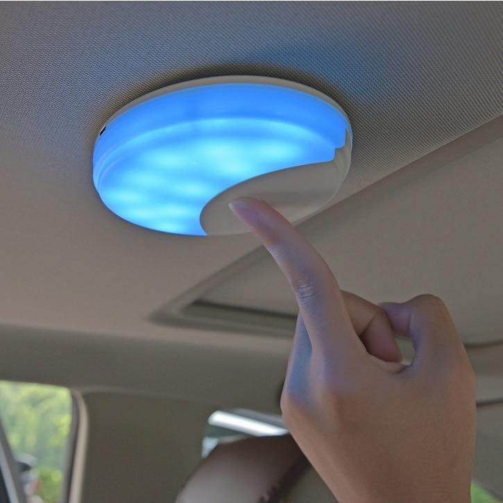 Universal Car Reading Light USB White/Blue Rechargeable Car Roof Ceiling Lights Magnetic Auto Interior Lighting LED Lamp car led spotlight cree automotive short animated film spotlights roof lighting roof lamp dc10 40v