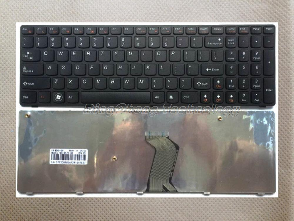 Original Black US laptop <font><b>Keyboard</b></font> For <font><b>Lenovo</b></font> V570 V570C V575 Z570 Z575 B570 B570A <font><b>B570E</b></font> B570E2 B570G B575 B575A B575E B580 B590 image