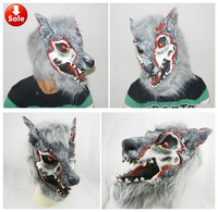 Neue Grau Wolf Halloween Maske Horror Maske karneval maskerade maske mardi gras gummi tiermaske halloween dekoration