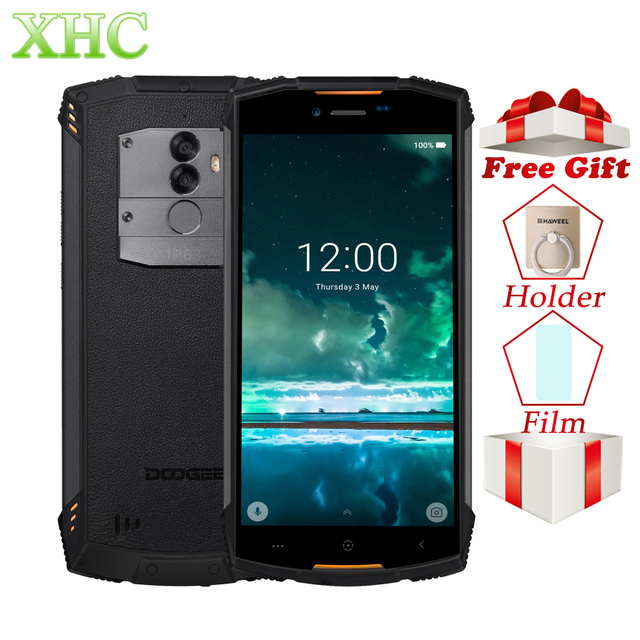 """DOOGEE S55 4GB 64GB Smartphone IP68 Waterproof 5.5"""" 13MP Android 8.0 MTK6750 Octa Core 5V 2A Quick Charge Dual SIM Mobile Phone"""