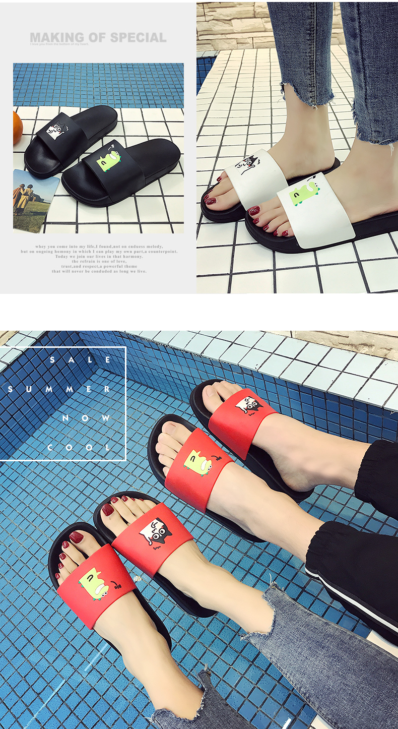 WHOHOLL Man Home Slippers Summer Sandals 2019 New Anti-skid Outside Wear Indoor Home Bathroom Bath Couple Cold Slippers Male 22