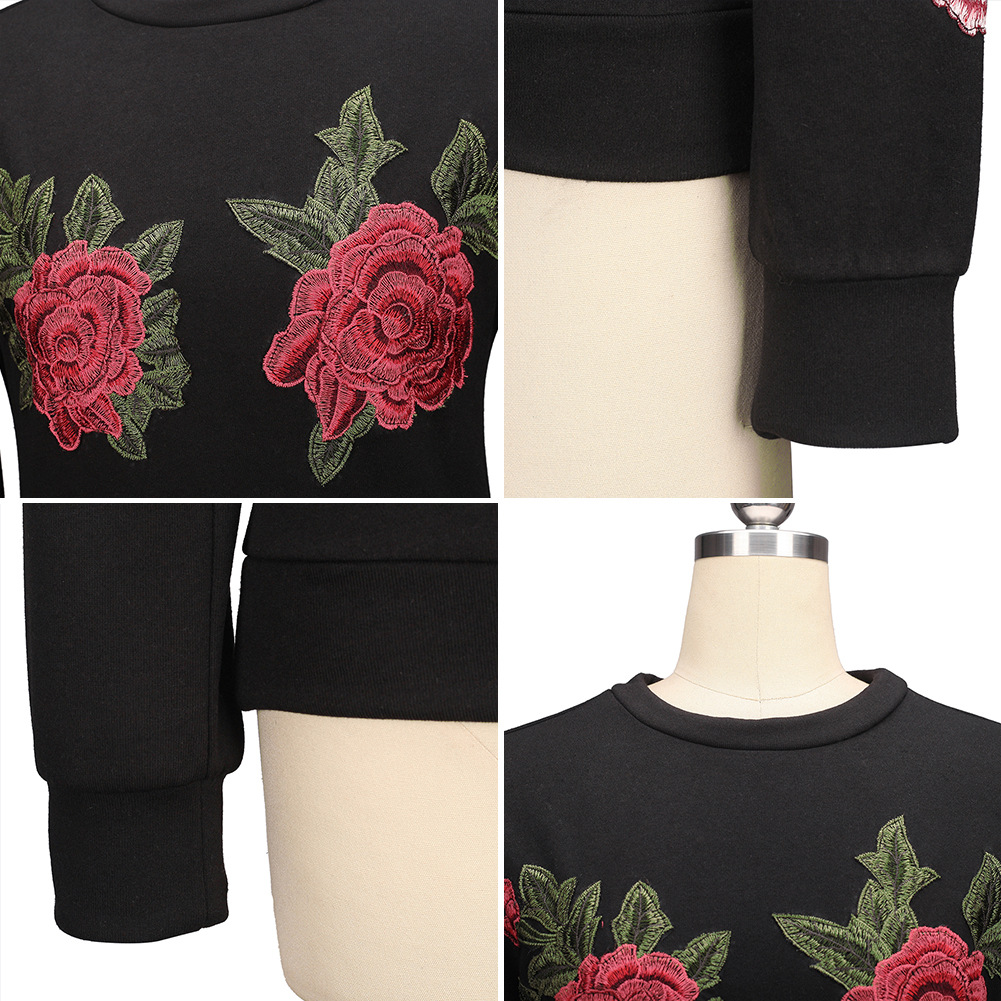 HTB1ymnxSFXXXXcvXpXXq6xXFXXX6 - Floral Rose Embroidery Hoodie PTC 136