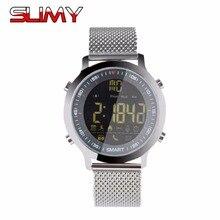 Pegajoso Mensagem Chamada SMS Lembrete Inteligente Relógio Relógio Esportivo À Prova D' Água Bluetooth 4.0 Inteligente Relógios Contador de Passos para o Relógio Dos Homens Das Mulheres