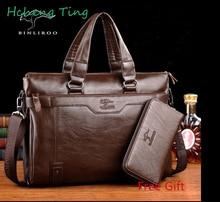 Brand Genuine Leather Men's Messenger Bag Business Men Shoulder Crossbody Bags Handbag Of Famous Design Bolsas Briefcase