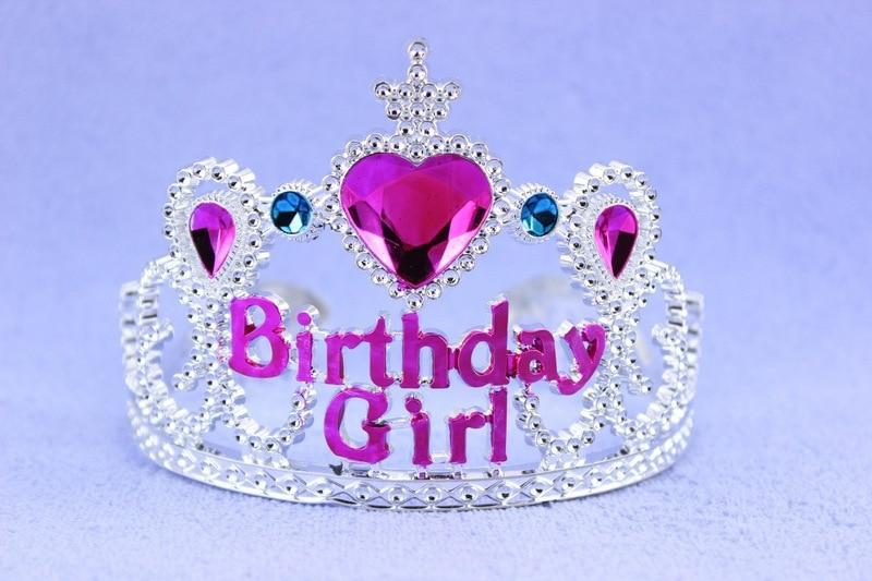 20gab / lot Princess dzimšanas dienas meitene rozā sirds - Svētku piederumi