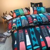 FADFAY Home Textile Multicolor Castle Bed Bedding Set Lovely Cartoon 1 Duvet Cover 2 Pillowcases Queen